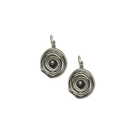 Boucles d'oreilles bouton spirale