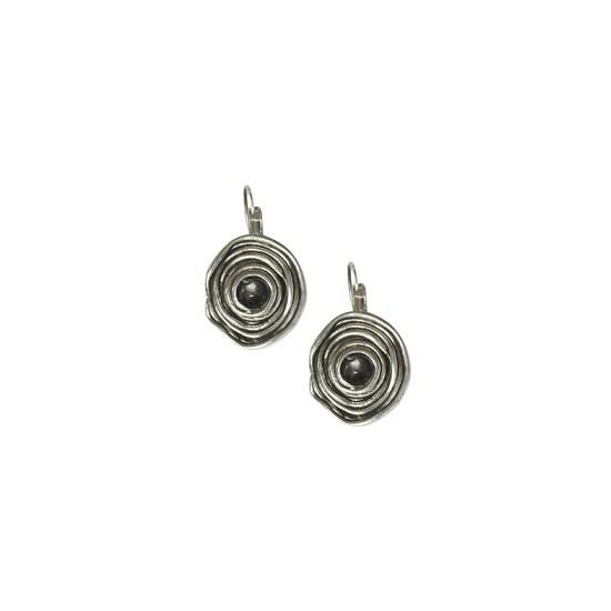 Dormeuses -Boucles d'oreilles bouton spirale