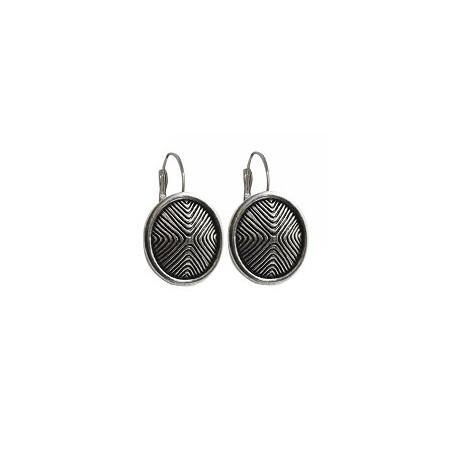 Dormeuses -Boucles d'oreilles motif inca