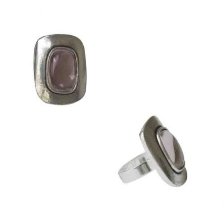 Rings with pâte de verre -Bague bombée