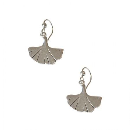 Crochets Métal -Petite boucles d'oreilles en Feuille de Ginkgo