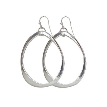 Boucles d'oreilles Ovales Plates