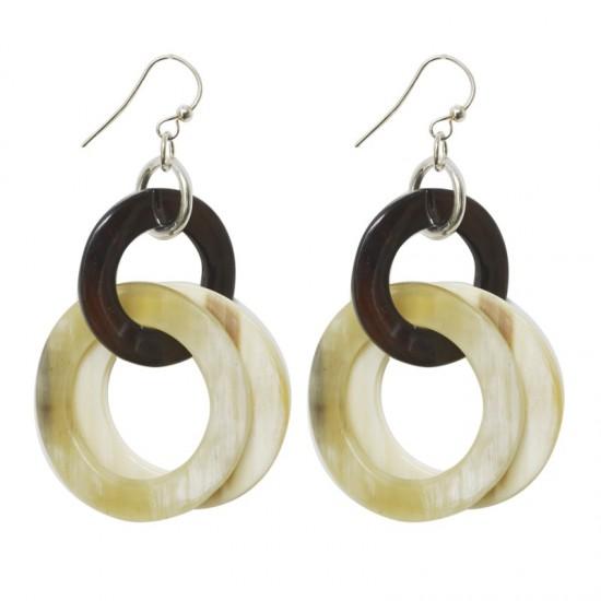 Women -Boucles d'oreilles anneaux corne