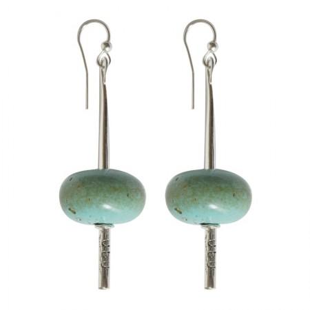 Crochets Résine -Boucles d'oreilles métal et résine