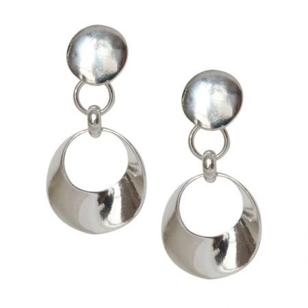 Clips Métal argenté -Boucles d'oreilles