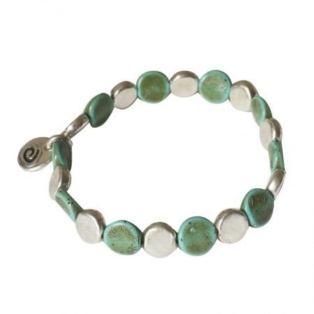 Home -bracelet élastique métal et résine