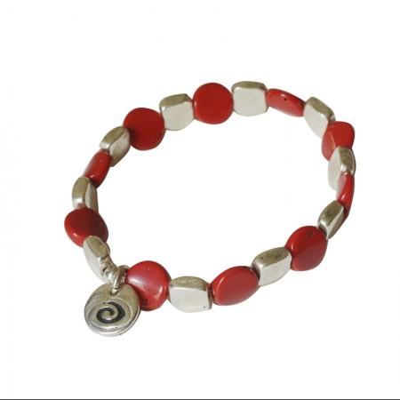 Bracelet élastique métal et résine