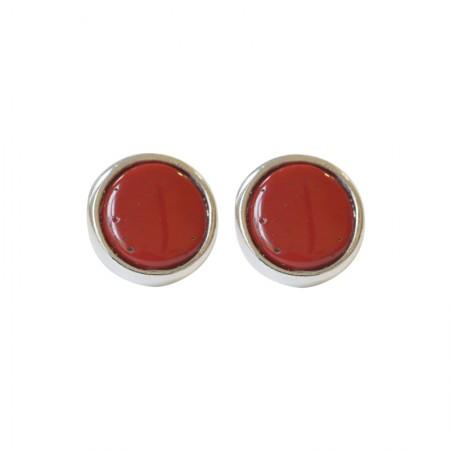 Boucles d'oreilles clips métal et résine