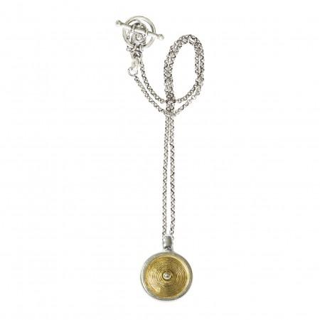 Accueil -Collier chaine bicolore