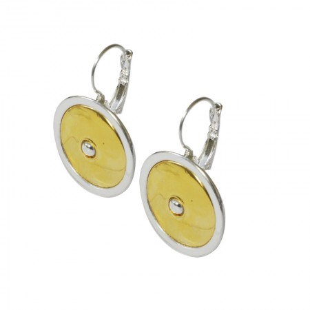 Two-tone Leverback Earrings