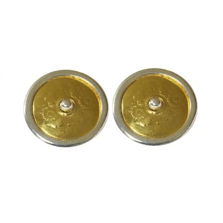 Boucles d'oreilles clips bicolore