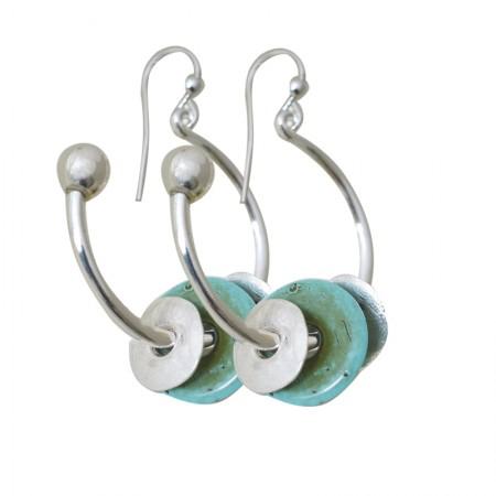 Boucles d'oreilles métal et résine