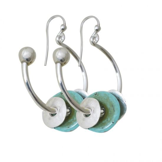 Home -Boucles d'oreilles métal et résine