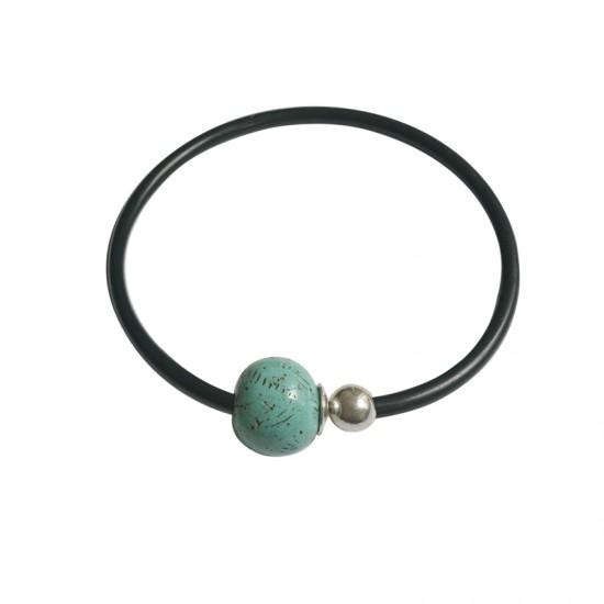 Accueil -Collier caoutchouc magnétique métal et résine