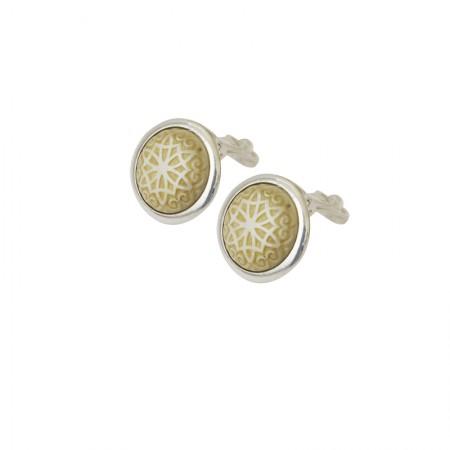 Clips Corne -Boucles d'oreilles clips métal et corne
