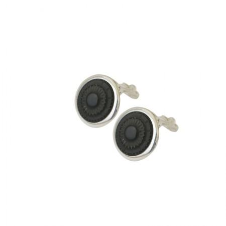 Accueil -Boucles d'oreilles clips métal et corne