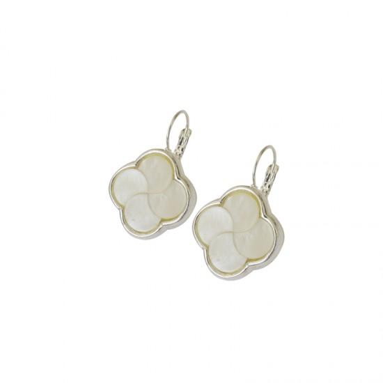 Accueil -Boucles d'oreilles métal et nacre