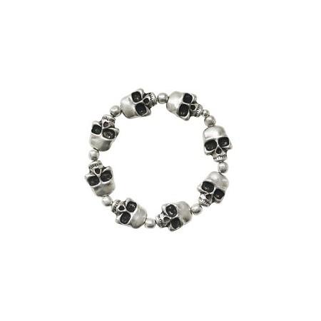 Bracelets élastiques -Bracelet têtes de mort sur élastique
