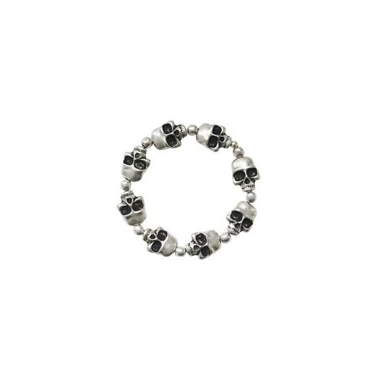 Bracelets élastiques -Bracelet têtes de mort élastique