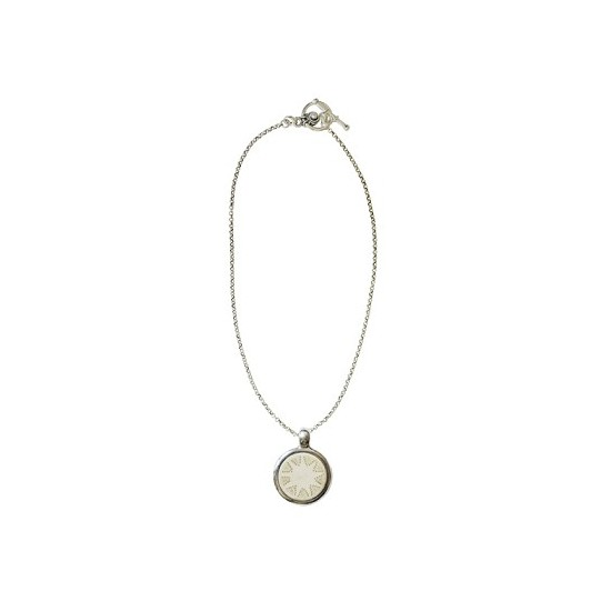 Women -Collier médaillon corne étoile pointillée