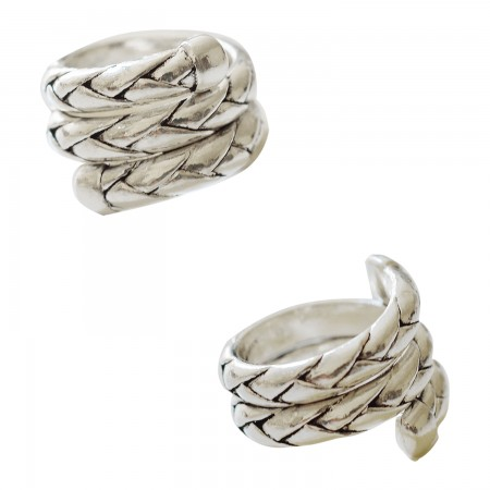 Metal Rings -Bague Tresse Spirale