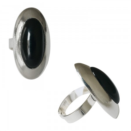 Rings with pâte de verre -Bague pâte de verre ovale