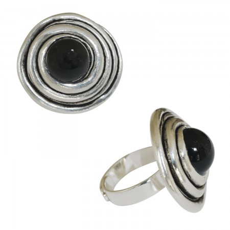 Rings with pâte de verre -Bague pâte de verre spirale