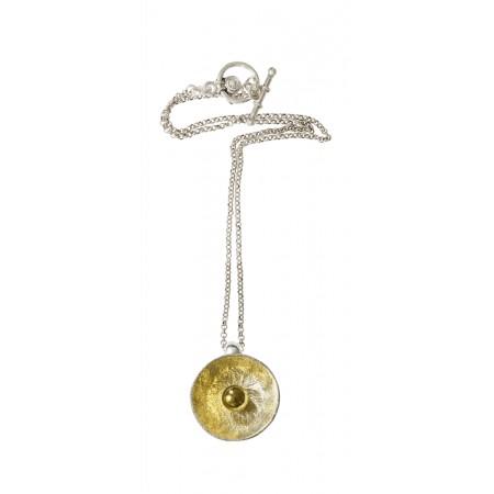 Collier Chaine Perle Bicolore