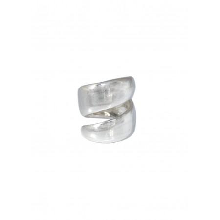 Bague spirale métal argenté