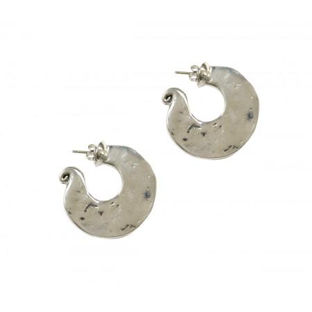 Accueil -Boucles d'oreilles créoles sur clous