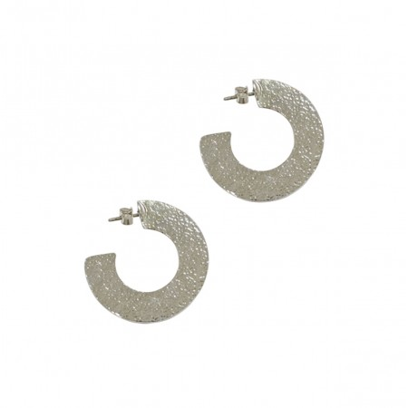 Creole Stud Earrings with Hoops