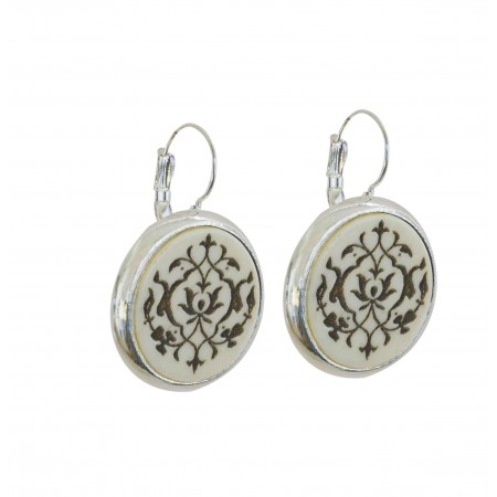 Leverback Earrings Horn